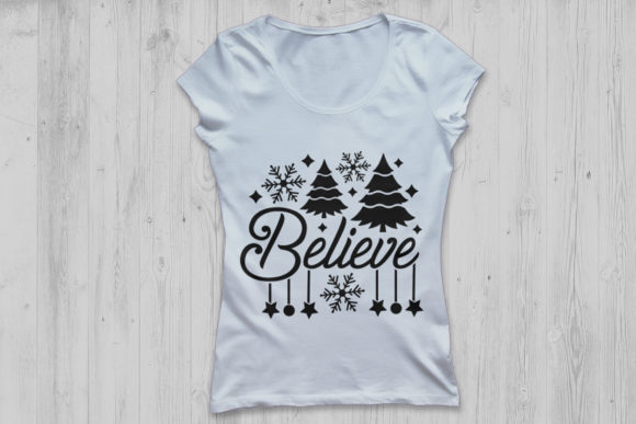 Download Free Believe Christmas Svg Graphic By Cosmosfineart Creative Fabrica for Cricut Explore, Silhouette and other cutting machines.