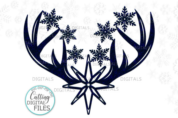Download Free Christmas Deer Antlers Svg Cut Out File Graphic By Cornelia for Cricut Explore, Silhouette and other cutting machines.