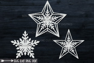 Download Free Christmas Star Set Svg Laser Cut Out Graphic By Cornelia SVG Cut Files