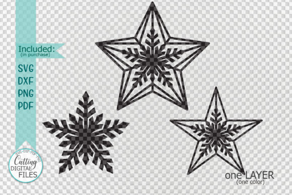 Download Free Christmas Star Set Svg Laser Cut Out Graphic By Cornelia for Cricut Explore, Silhouette and other cutting machines.