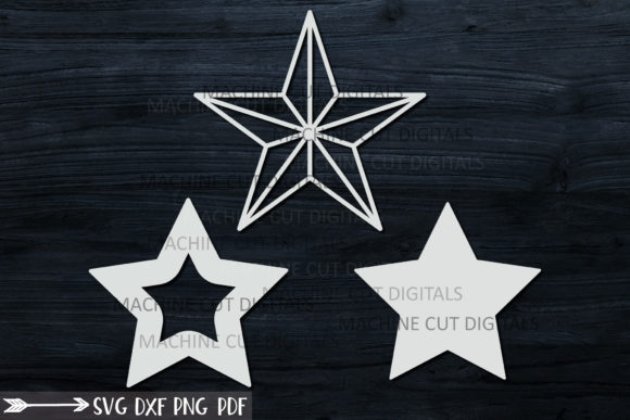 Christmas Star Set Svg Laser Cut out Graphic Crafts By Cornelia - Image 4