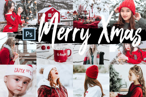 05 Merry Xmas Photoshop Actions, ACR LUT Graphic By 3Motional
