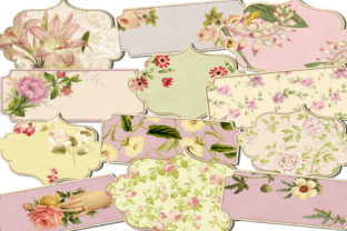 Print on Demand: Floral Labels Graphic Illustrations By retrowalldecor
