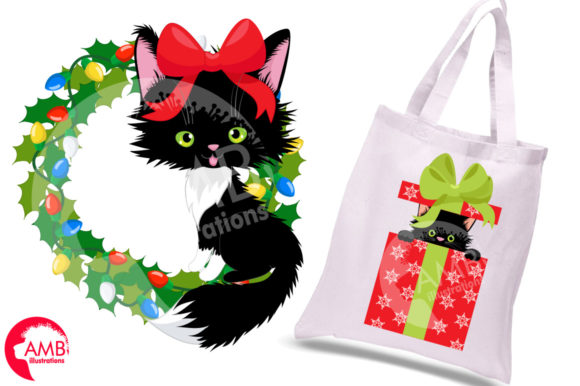 Christmas Cats Clipart, Christmas AMB-26 Graphic Illustrations By AMBillustrations - Image 4