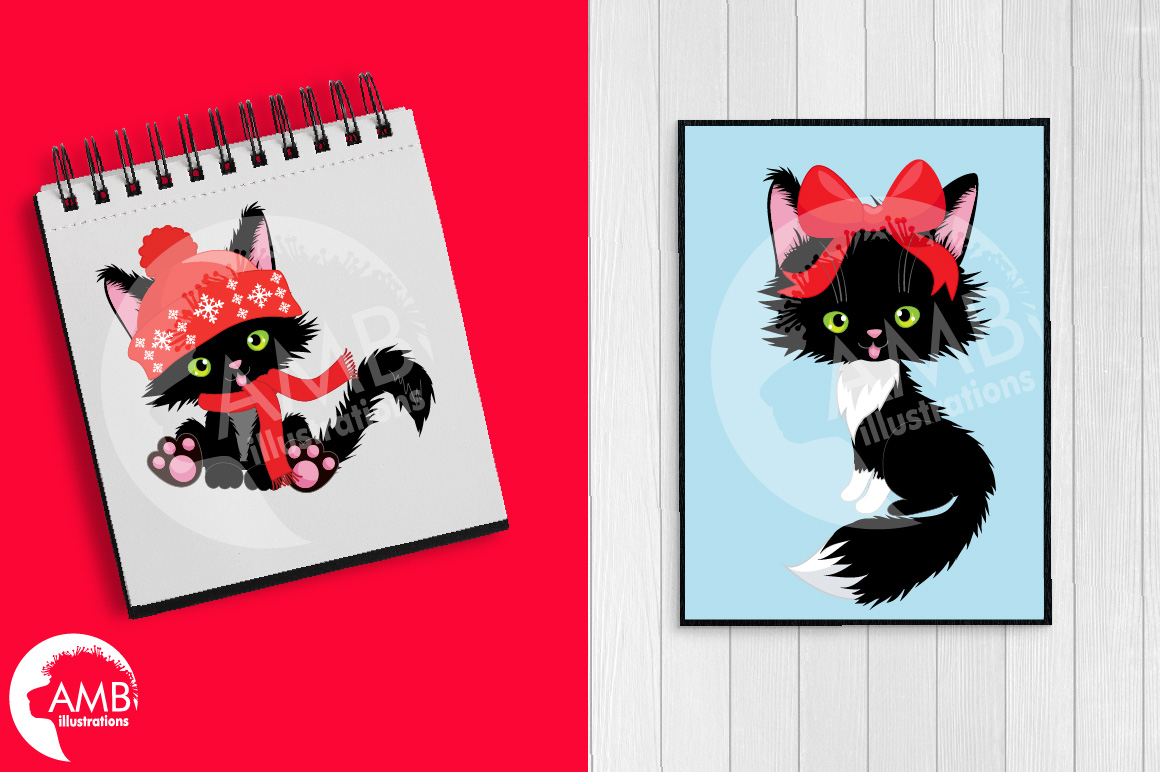 Download Free Christmas Cats Clipart Christmas Amb 26 Graphic By SVG Cut Files