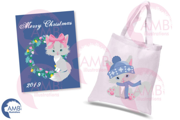 Christmas Cats in Pastel Colors AMB-2666 Graphic Illustrations By AMBillustrations - Image 5