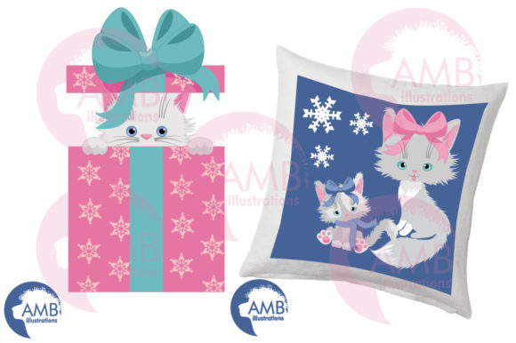Christmas Cats in Pastel Colors AMB-2666 Graphic Illustrations By AMBillustrations - Image 4