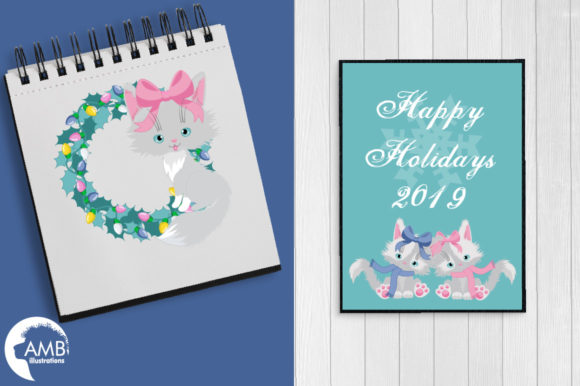Christmas Cats in Pastel Colors AMB-2666 Graphic Illustrations By AMBillustrations - Image 2