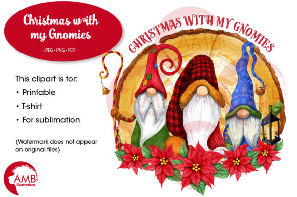 Christmas with My Gnomies, Gnome AMB2685 Graphic Illustrations By AMBillustrations - Image 1