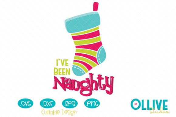 Christmas Stocking Naughty Graphic Crafts By ollivestudio
