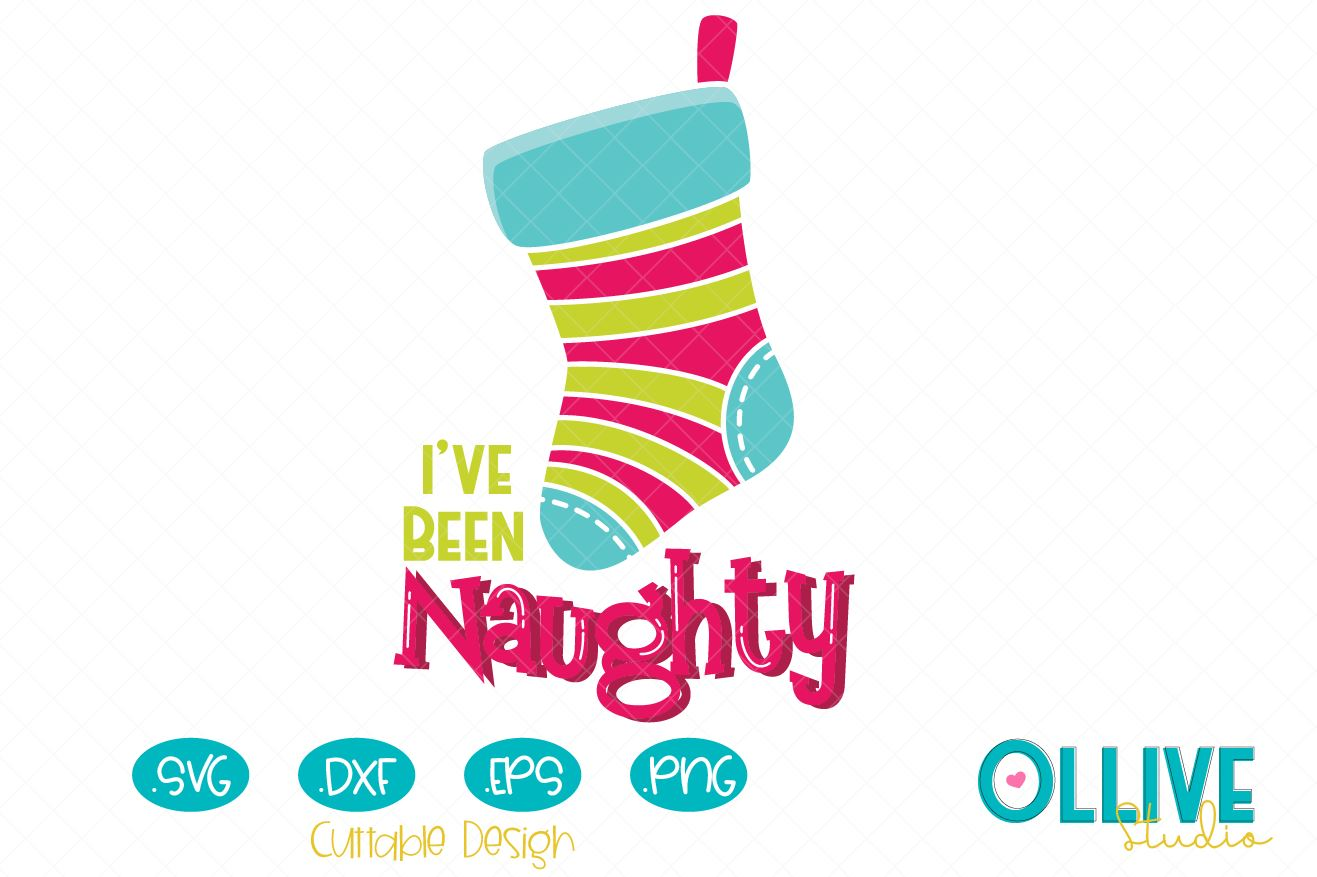 Download Free Christmas Stocking Naughty Graphic By Ollivestudio Creative for Cricut Explore, Silhouette and other cutting machines.