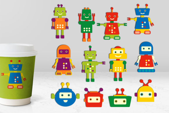 Print on Demand: Robots Bundle Graphic Illustrations By Revidevi - Image 2