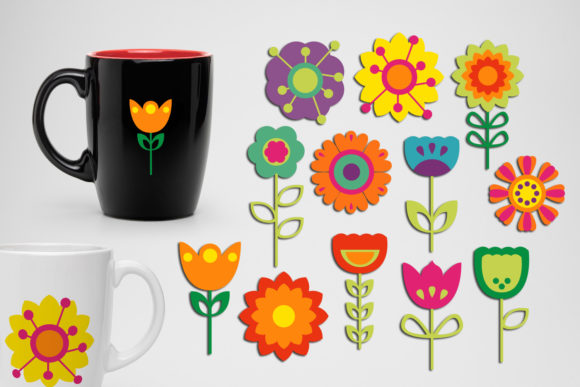 Print on Demand: Spring Flowers Bundle Graphic Illustrations By Revidevi - Image 3