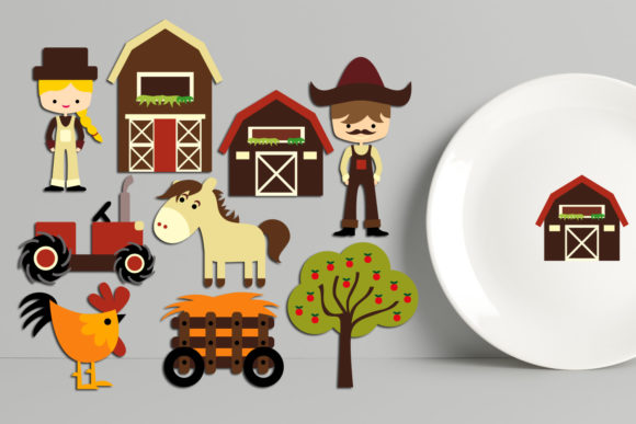 Print on Demand: At the Farm Clip Art Bundle Graphic Illustrations By Revidevi - Image 3