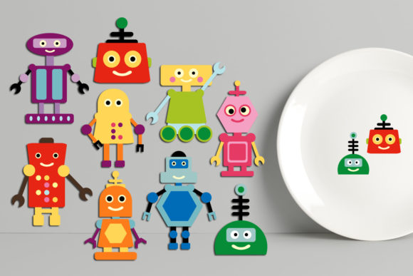 Print on Demand: Robots Bundle Graphic Illustrations By Revidevi - Image 3