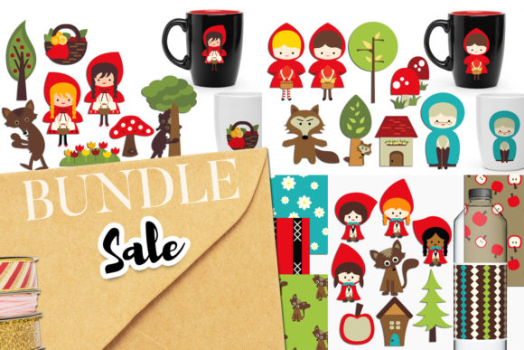 Print on Demand: Little Red Riding Hood Bundle Graphic Illustrations By Revidevi