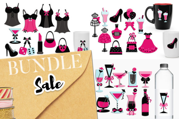 Print on Demand: Bachelorette Party Bundle Graphic Illustrations By Revidevi - Image 1