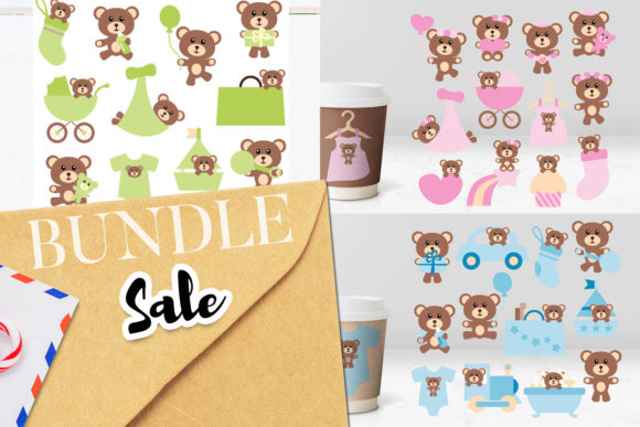Print on Demand: Teddy Bear Bundle Graphic Illustrations By Revidevi