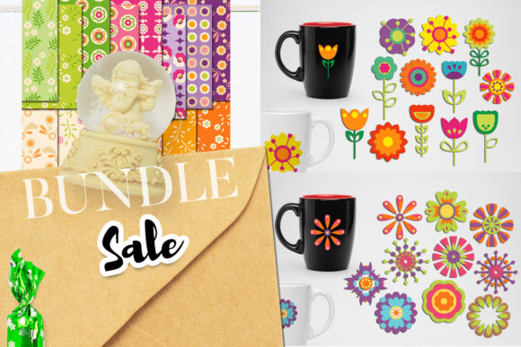 Print on Demand: Spring Flowers Bundle Graphic Illustrations By Revidevi - Image 1