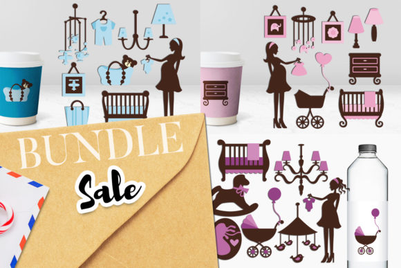 Print on Demand: Baby Shower Nursery Bundle Graphic Illustrations By Revidevi