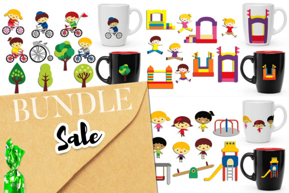 Print on Demand: Outdoor Activities Bundle Graphic Illustrations By Revidevi - Image 1