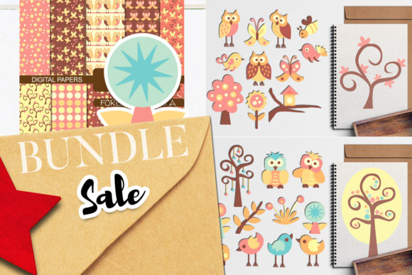 Print on Demand: Spring Forest Friends Bundle Graphic Illustrations By Revidevi - Image 1