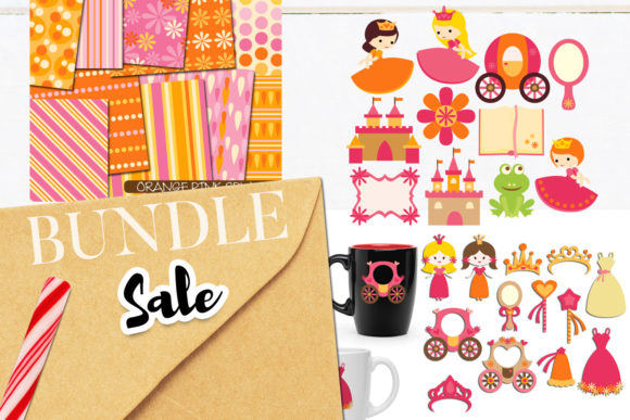 Print on Demand: Spring Princess Girls Bundle Graphic Illustrations By Revidevi