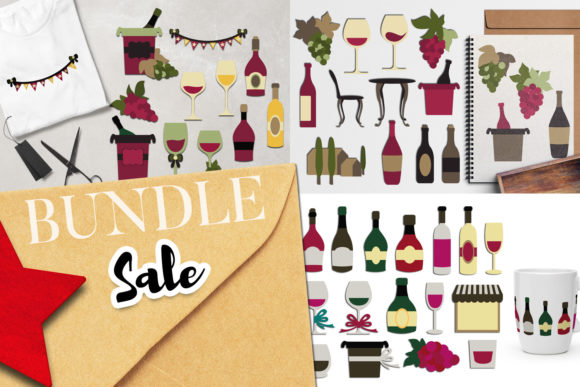 Print on Demand: Wine Tasting Clip Art Bundle Graphic Illustrations By Revidevi
