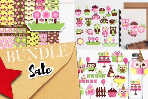 Print on Demand: Spring Owl Party Bundle Graphic Illustrations By Revidevi