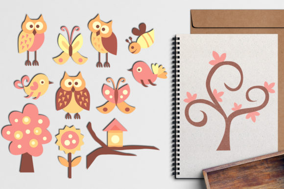 Print on Demand: Spring Forest Friends Bundle Graphic Illustrations By Revidevi - Image 2