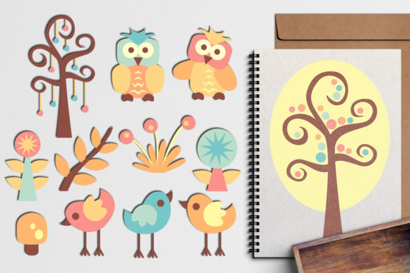 Print on Demand: Spring Forest Friends Bundle Graphic Illustrations By Revidevi - Image 3