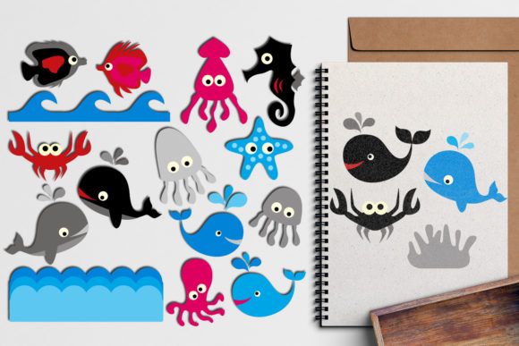 Print on Demand: Sea Animals Bundle Graphic Illustrations By Revidevi - Image 4