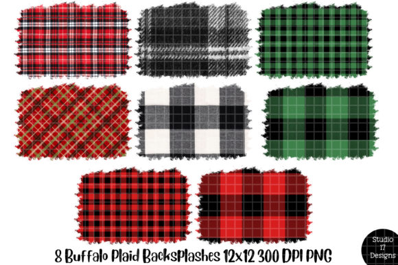 Print on Demand: Buffalo Plaid Backsplash for Sublimation Graphic Illustrations By Studio 17 Designs - Image 1