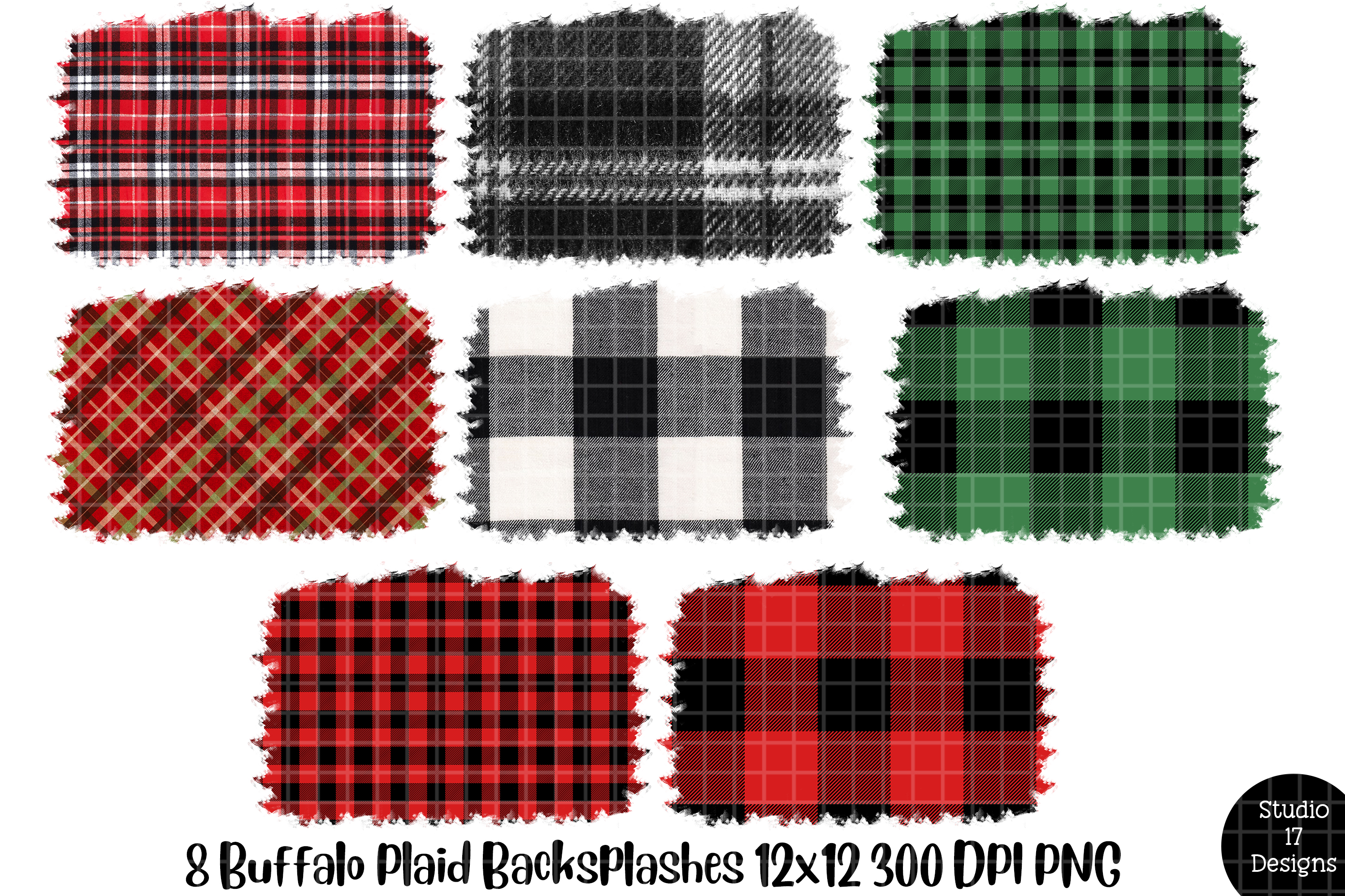 Download Free Buffalo Plaid Backsplash For Sublimation Graphic By Studio 17 for Cricut Explore, Silhouette and other cutting machines.