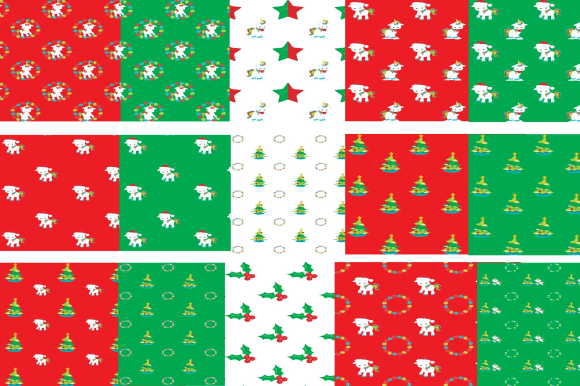 Download Free Cute Christmas Unicorns Digital Paper Graphic By Josephine S for Cricut Explore, Silhouette and other cutting machines.