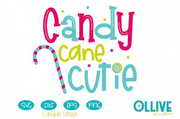 Christmas Candy Cane Cutie Graphic Crafts By ollivestudio
