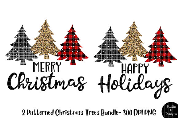 Print on Demand: Buffalo Plaid Christmas Tree PNG Graphic Crafts By Studio 17 Designs - Image 1
