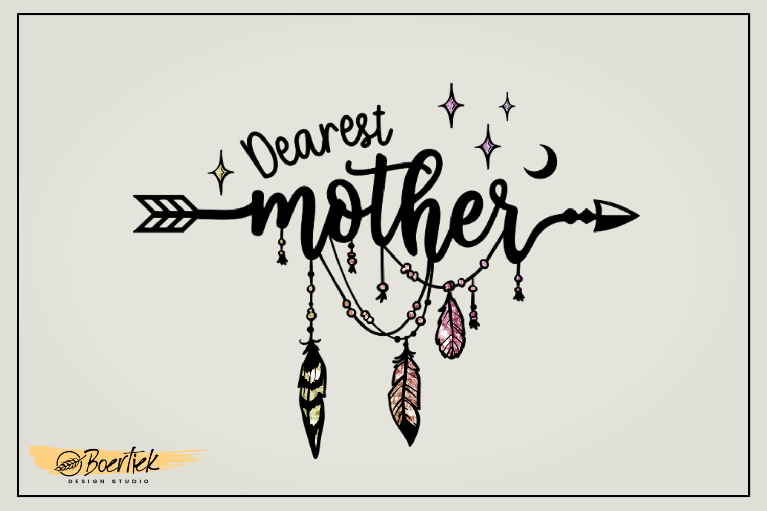 Download Free Dearest Mother Graphic By Boertiek Creative Fabrica for Cricut Explore, Silhouette and other cutting machines.