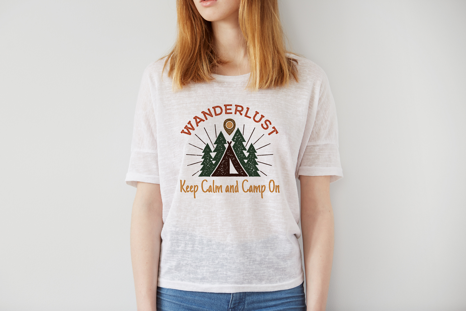 Download Free Wanderlust Print Design Camping Retro Graphic By Jeksongraphics Creative Fabrica for Cricut Explore, Silhouette and other cutting machines.