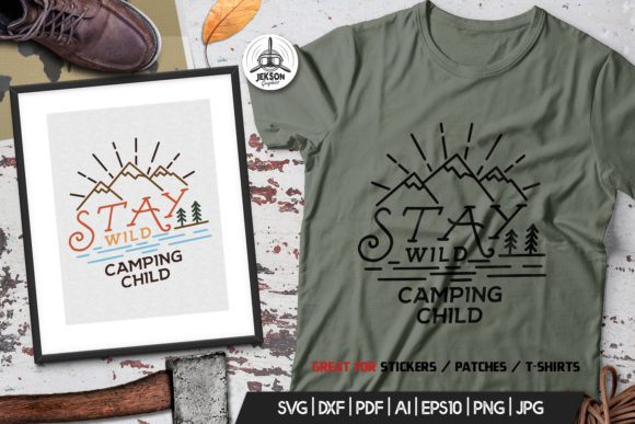 Download Free Stay Wild Logo Design Camping Retro Svg Graphic By for Cricut Explore, Silhouette and other cutting machines.