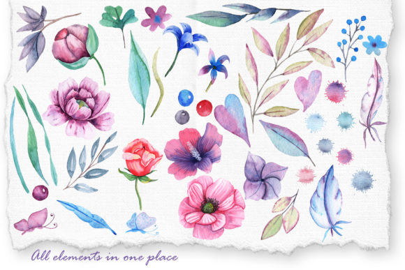 Print on Demand: Watercolor Cats and Flowers Graphic Illustrations By tanatadesign - Image 9