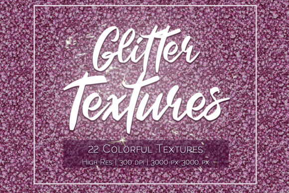 Print on Demand: Colorful Glitter Textures Graphic Textures By La Oliveira