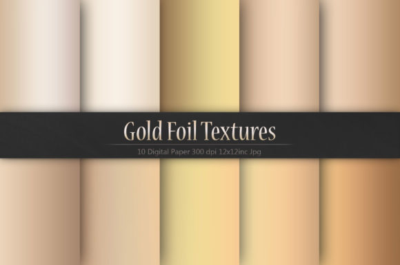 Print on Demand: Gold Foil Textures Graphic Textures By Creative Paper