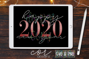 Download Free Happy 2020 New Year Svg Png Graphic By Designscor Creative for Cricut Explore, Silhouette and other cutting machines.