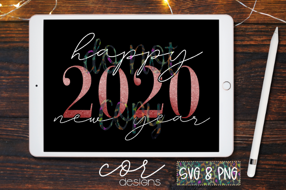 Happy 2020 New Year Svg Png Graphic By Designscor Creative