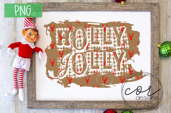 Holly Jolly Png Graphic By Designscor Creative Fabrica