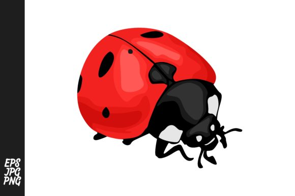 Print on Demand: Ladybug Vector Clipart Graphic Crafts By Arief Sapta Adjie