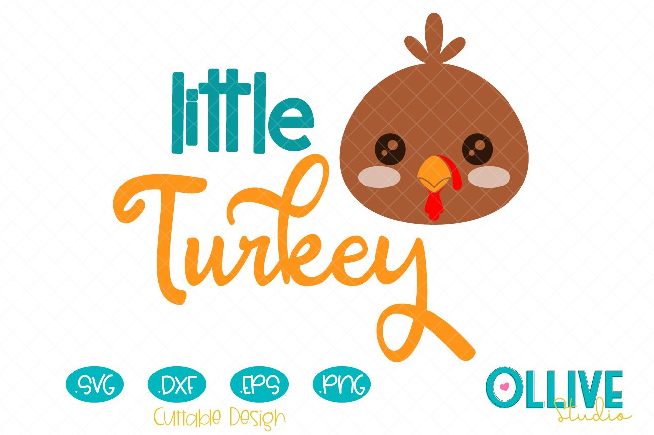Download Free Little Turkey Thanksgiving Svg Graphic By Ollivestudio Creative Fabrica for Cricut Explore, Silhouette and other cutting machines.