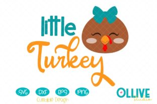 Download Free Little Turkey Girl Thanksgiving Svg Graphic By Ollivestudio for Cricut Explore, Silhouette and other cutting machines.