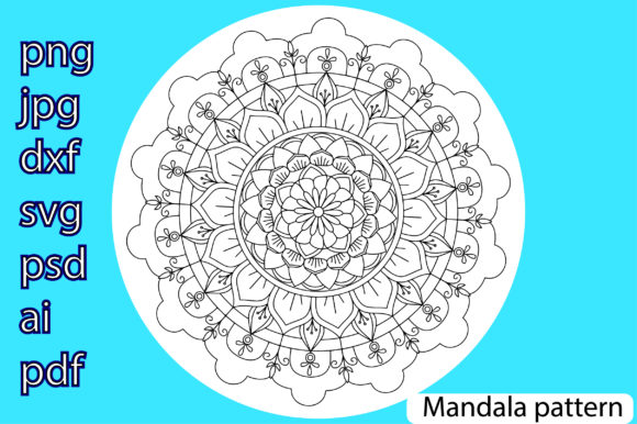 Print on Demand: Mandala Pattern Graphic Illustrations By Ana Carmen Modrego Lacal - Image 1